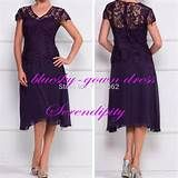 mother of the bride tea length purple dresses - - Yahoo Image Search Results