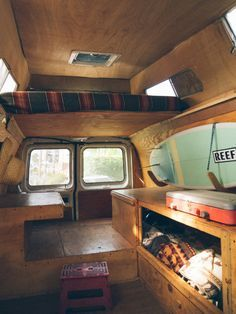 DIY van conversion with Loft bed | campervan interiors                                                                                                                                                      More