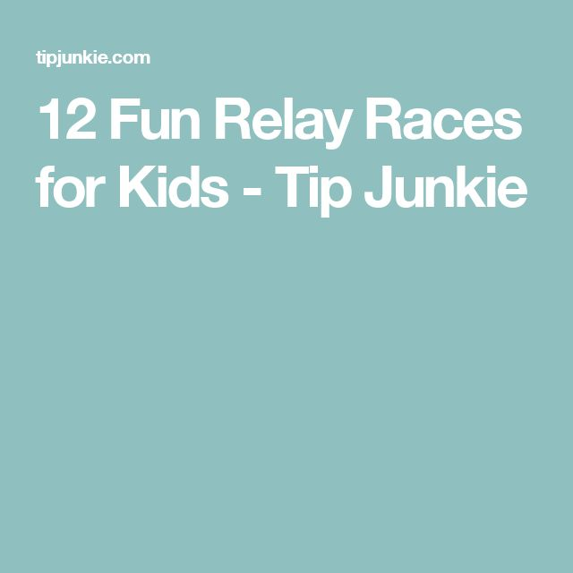 12 Fun Relay Races for Kids - Tip Junkie                                                                                                                                                                                 More