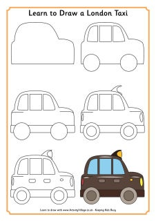 Learn to draw a London taxi