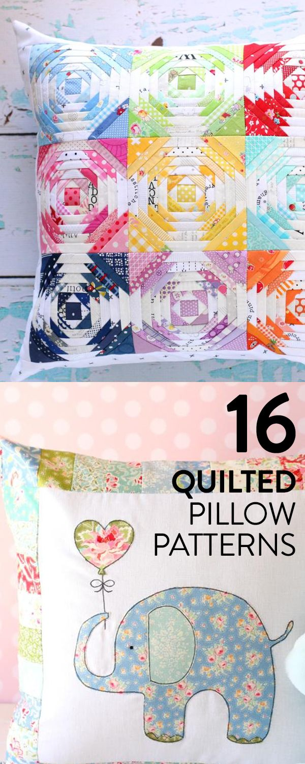 Save money on throw pillows by quilting your own. We've made it easy for you by rounding up our most beautiful pillow patterns. All you have to do is choose.