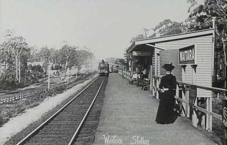 Waitara Railway Station,in the Sydney metropolitan area at the turn of the century.A♥W
