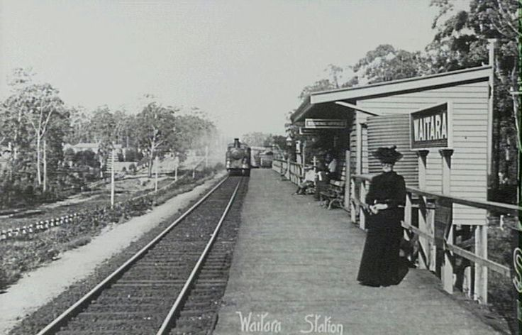 Waitara Railway Station,in the Sydney metropolitan area at the turn of the century.A♥W