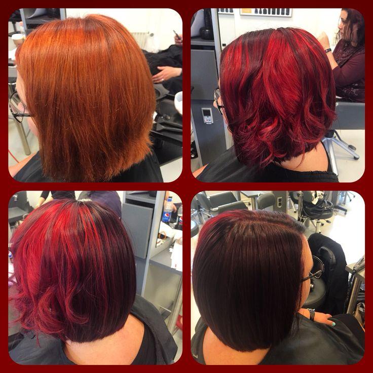 Specialefag teknisk coloration   #redandviolet#frisørelev#hair