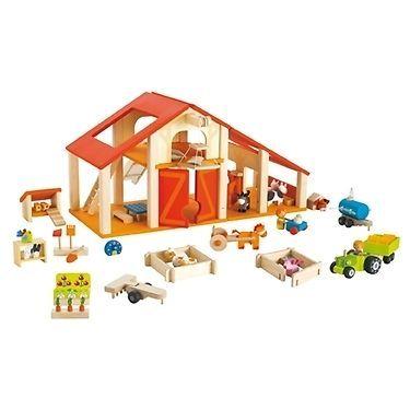♥ Sevi Wooden Farm Dolls House Kids Toys Pretend Play Boys Girls Gift Perth WA ♥