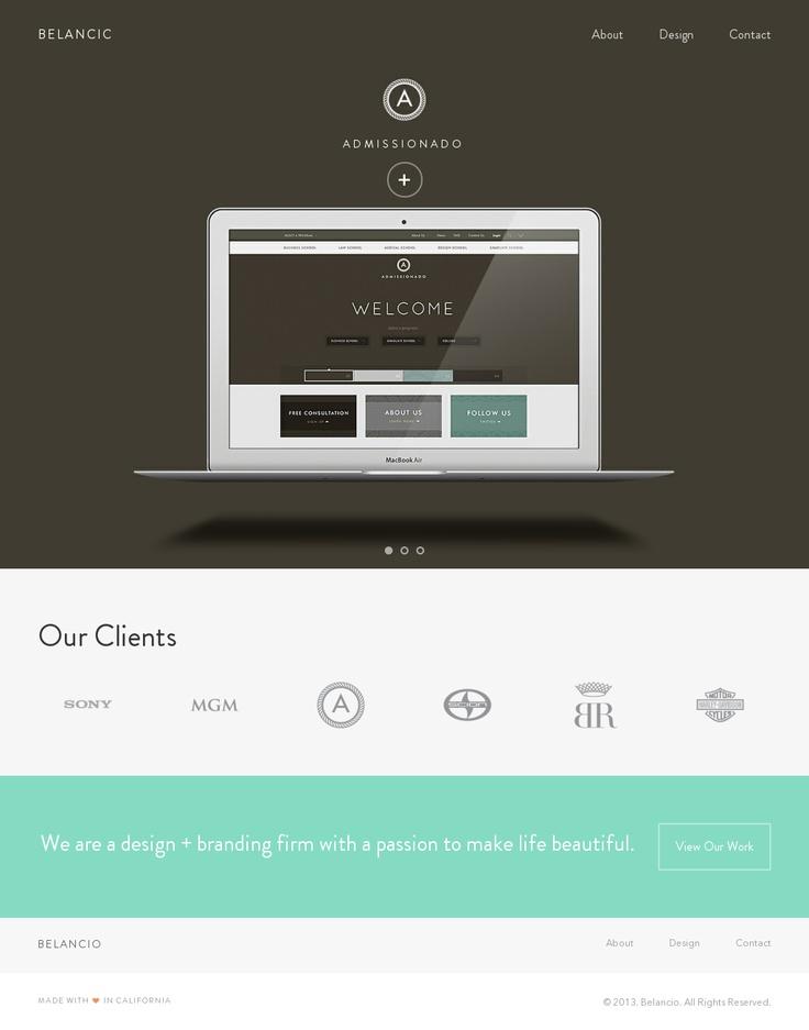 Very nice, clean website using flat web design.