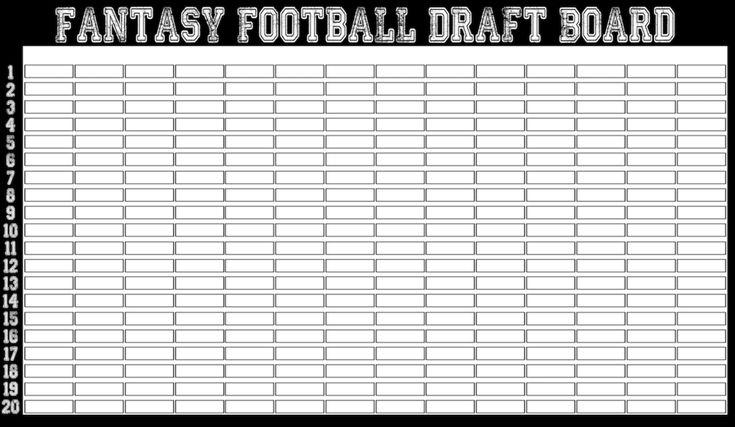 Classic Style Commish Choice Fantasy Football Draft Board Fantasy Football Draft Party Football Draft