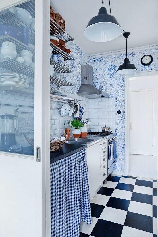 blue apartment decor, Scandinavian interiors   Interior Design Files