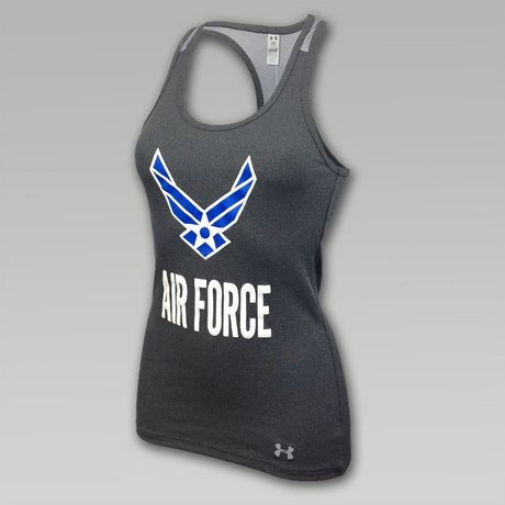 Under Armour Air Force Women's Fitness Mesh Back Victory Tank | ArmedForcesGear.com