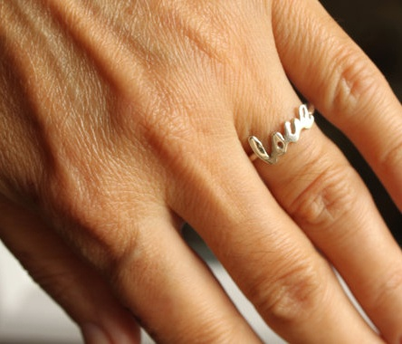 Sweet little love ring