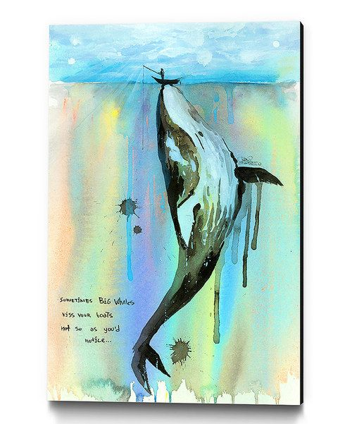 Take a look at this Whalelala Wrapped Canvas on zulily today!
