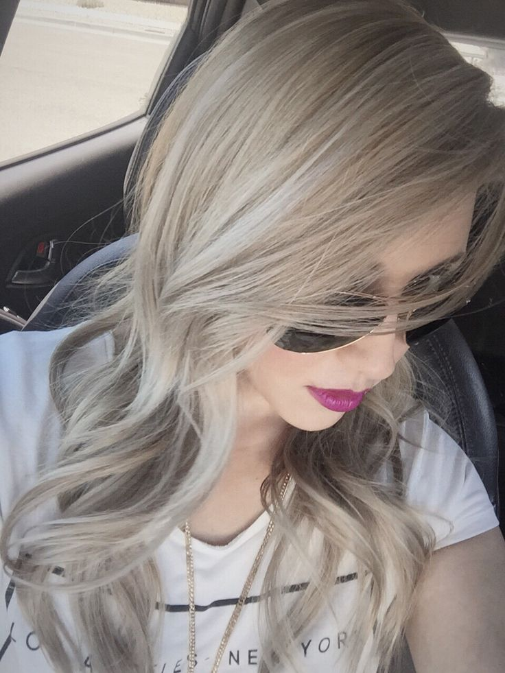 Blonde hair with multidimensional ash highlights. Ash base with white highlights and little bayalage... Going purple next!