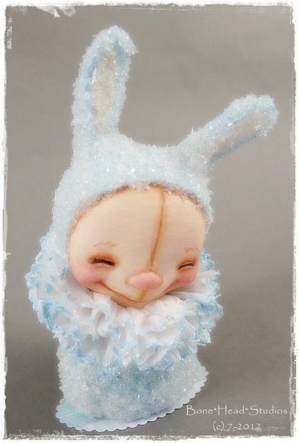 Petite Lapin - folk art , art doll