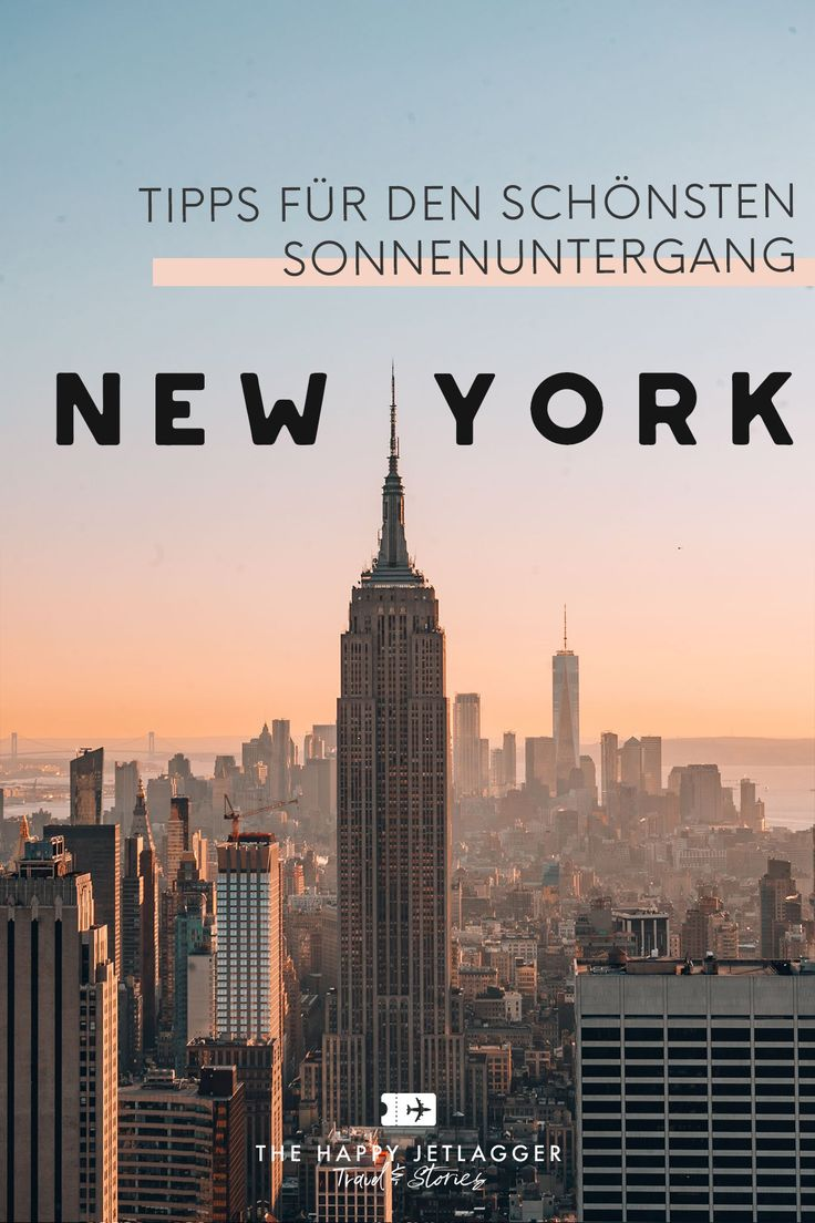 Top of the Rock in New York: Sonnenuntergang über Manhattan