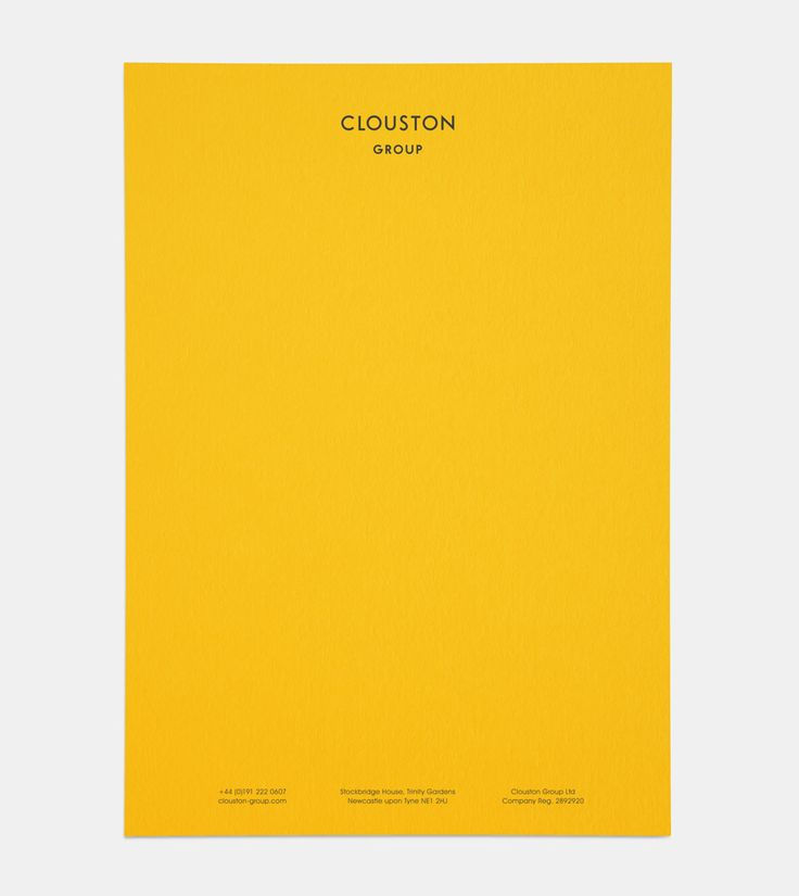 Clouston visual identity and letterhead designed by Founded.