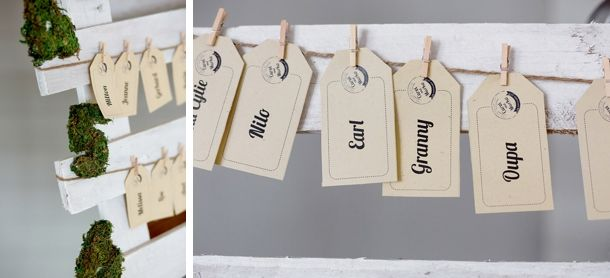 wedding stationary. table list. escort cards