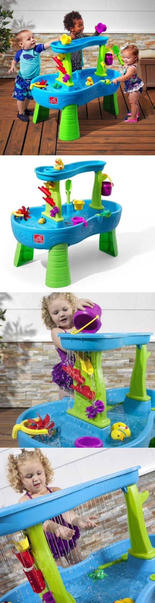 Step 2 52344: Splash Pond Water Play Toy Kid Child Colorful Table Paddle Bucket Rainfall Sound -> BUY IT NOW ONLY: $87.08 on eBay!