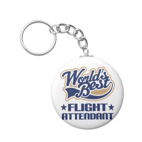 Worlds Best Flight Attendant Keychain