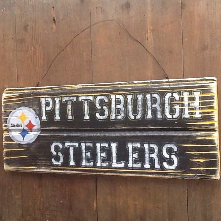 Pittsburgh Steelers Sign Reclaimed Wood Sign Recycled Wood Sign Rustic Wood  Sign Steelers fan by WOODruSAYINSigns - 25+ Best Ideas About Steelers Sign On Pinterest Steelers