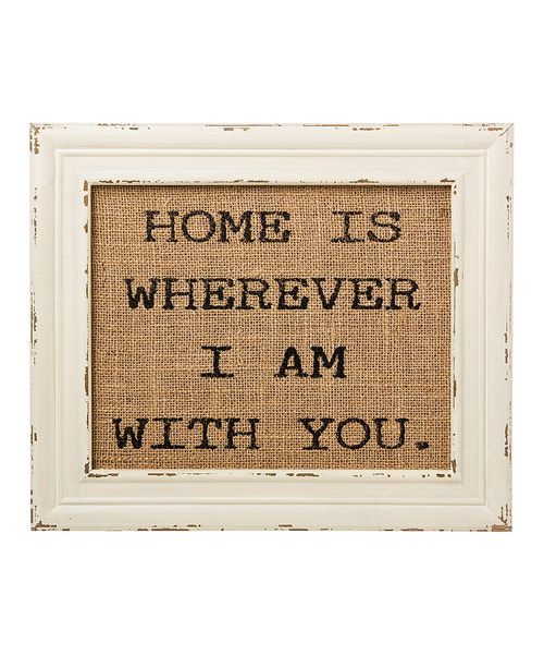 Look at this 'With You' Burlap Framed Sign on #zulily today!