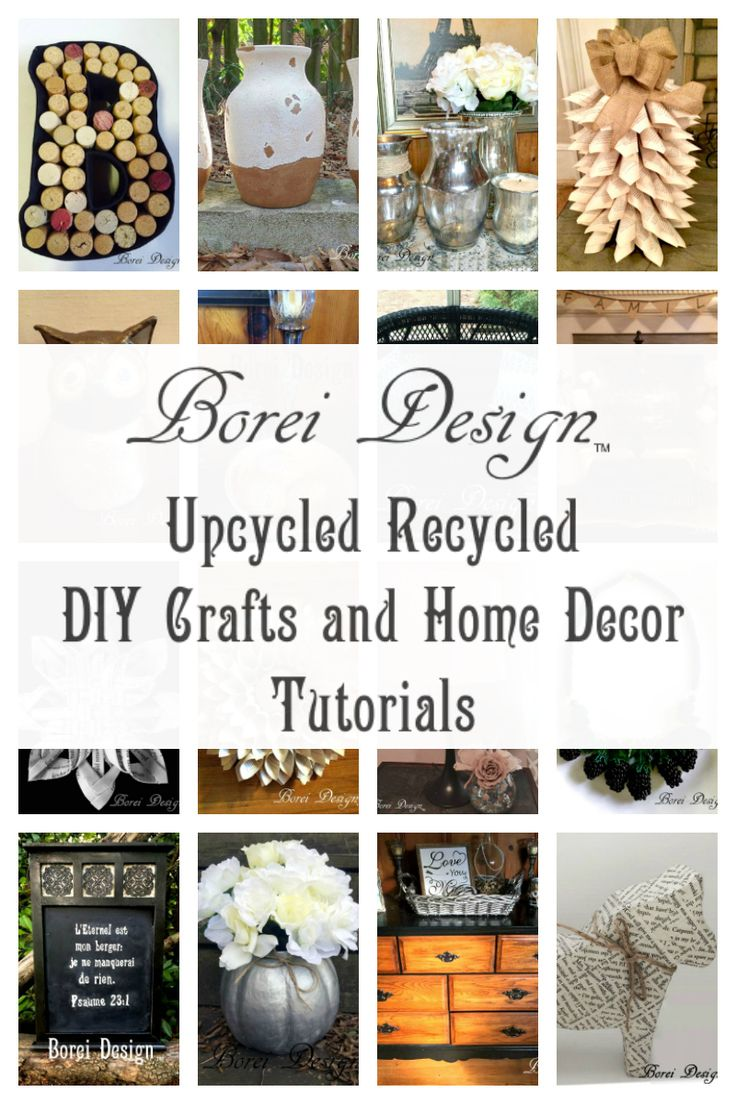 Huge collection of DIY home decor and craft tutorials with emphasis on upcycling and recycling.