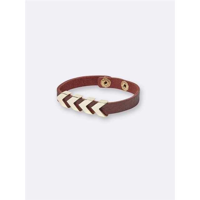 WOMEN'S LEATHER AND ARROW METAL BRACELET CYRILLUS : price, reviews and rating, delivery. Worked in dual-texture, this bracelet adds that chic little note to all your outfits.DetailsAdjustable press-stud fastening (19.5cm and 21.5cm approx.).Materials60% leather, 40% metal.