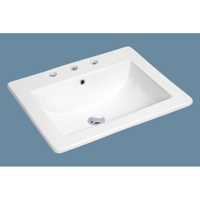 White Porcelain Rectangular Drop In Bathroom Sink With Overflow Drop In Bathroom Sinks Modern Bathroom Sink Sink