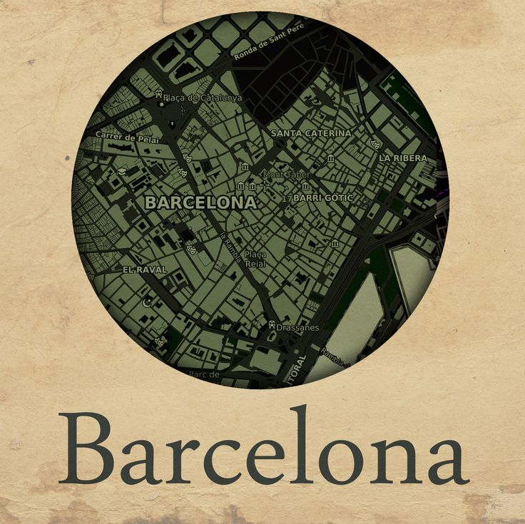 Cities edition - Barcelona by mapshakers.com
