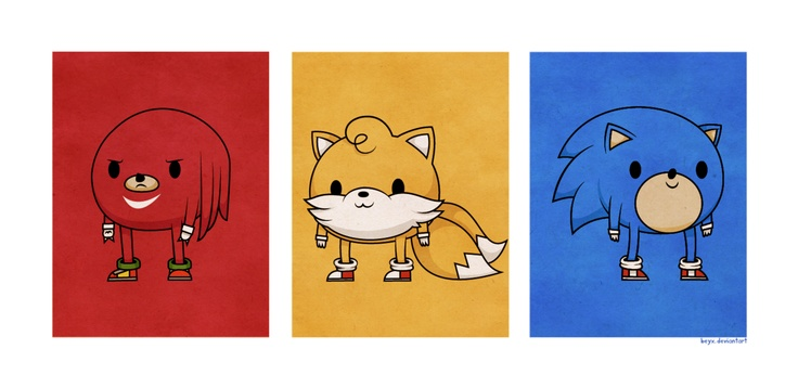 Sonic the Hedgehog illustrations by Demiurgic