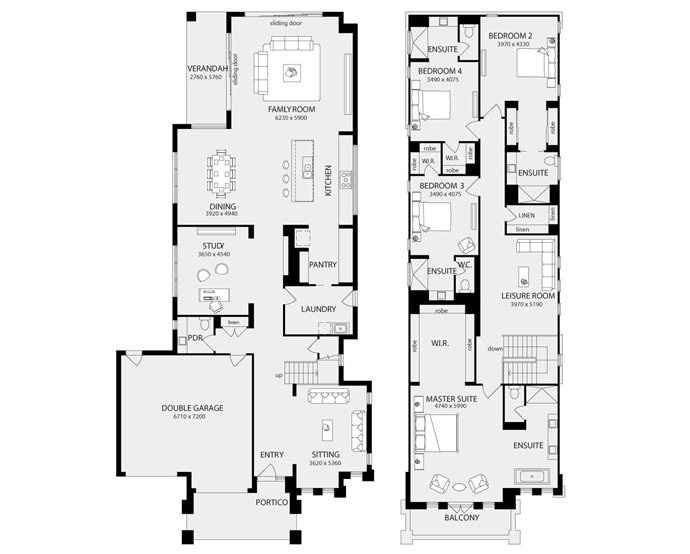 100 E Huron Floor Plans