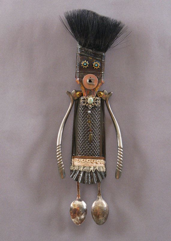 ASSEMBLAGE ART DOLL Sculpture by CastOfCharacters23