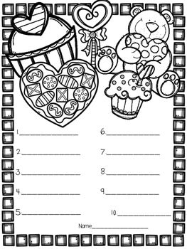 FREE Valentineu0027s Day Coloring U0026 Spell Spelling Test Template