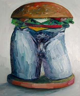 "Saatchi Art Artist John Kilduff; Painting, ""David burger"" #art"