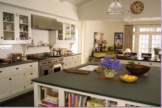 I {heart} this kitchen---the windows let in so much light and that island--WOWZERS!