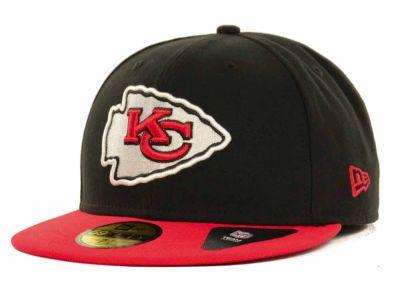 Kansas City Chiefs New Era NFL Black Team 59FIFTY Cap