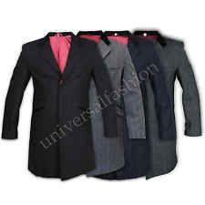 Mens Coat Wool Jacket Casual Tweed Herringbone Outerwear Overcoat Trench Winter