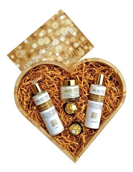 Joliette Heart Shaped Face/Skin Gift Set £40 #knowyourworth