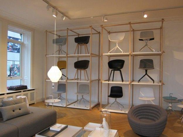 Hay, design house a Copenhagen - Sedie allo showroom Hay