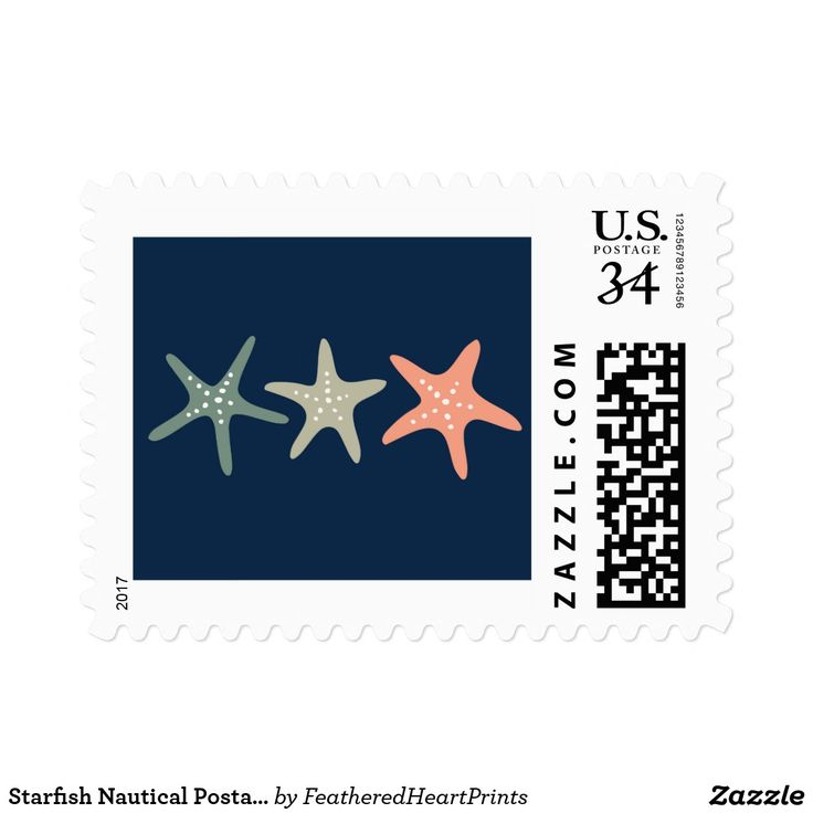 Starfish Nautical Postage Stamp