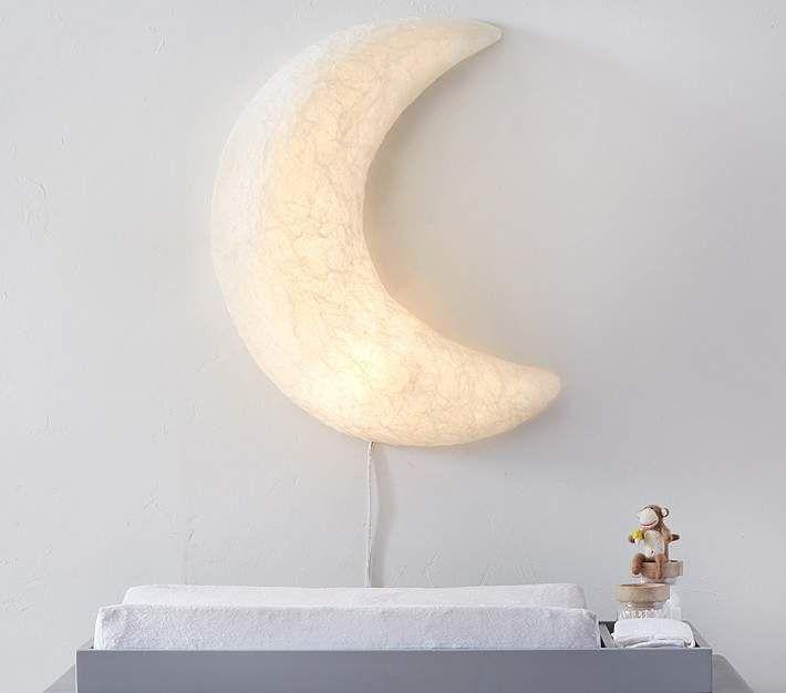 Paper Mache Light Up Moon Kid Room Decor Pottery Barn