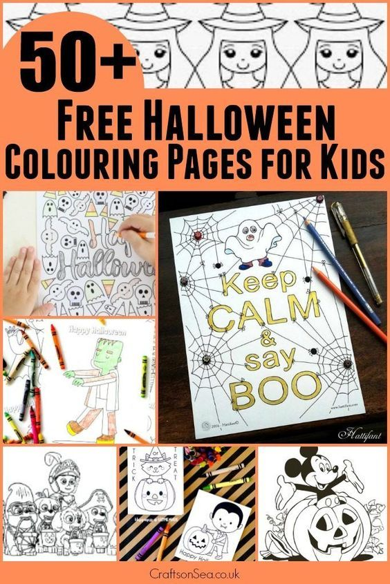 Keep the kids busy and happy with these free Halloween colouring pages for kids - with over 50 printables there's bound to be something they'll love!