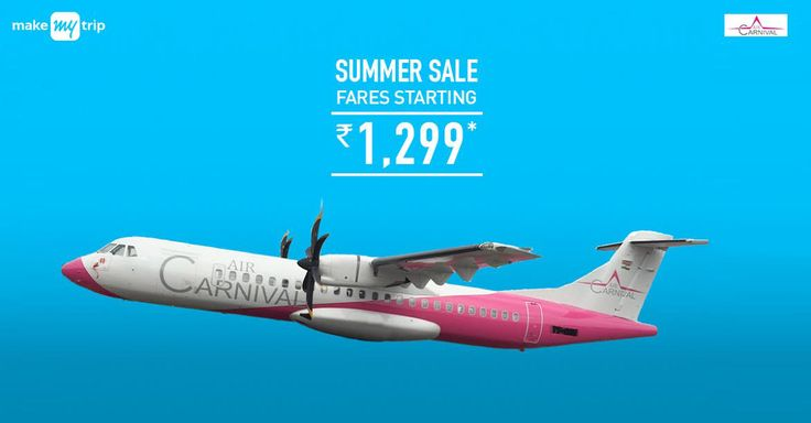 Get ubercool #flight #discounts on @makemytrip - Air Carnival #Sale. Flights starting at Rs.1299 ++ up to 280 #cashback.  #summer #coupons #travel #plane #cheap #nature #fly #high