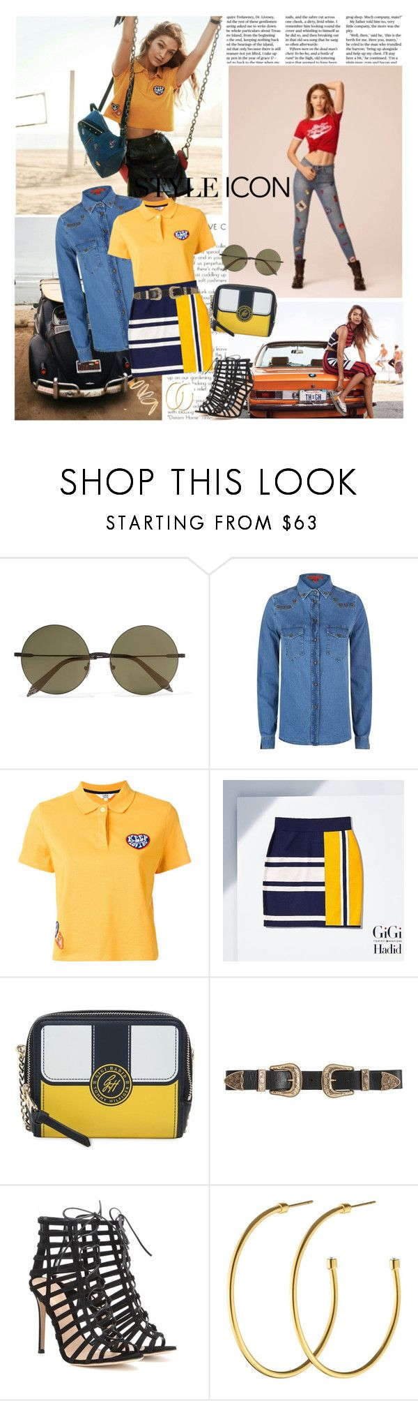 """Miss Hadid"" by ita-varela ❤ liked on Polyvore featuring Victoria Beckham, Tommy Hilfiger, B-Low the Belt, Gianvito Rossi, Dyrberg/Kern and Madewell"