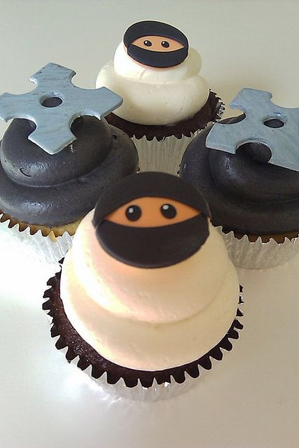 ninja cupcakes by Luv at first Bite, via Flickr