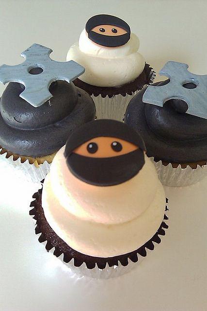 ninja cupcakes by Luv at first Bite, via Flickr