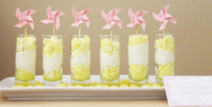 a lemonade and sunshine party-the meringue parfaits