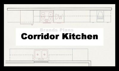 Free kitchen layout plans kitchen plan layout corridor for Corridor kitchen layout