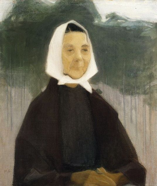 Helene Schjerfbeck (Finish 1862–1946) [Realism, Impressionism, Expressionism, Romanticism] Old Woman, 1907.