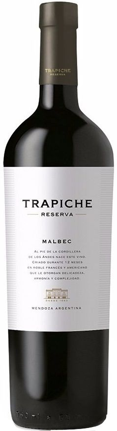 """Reserva"" Malbec 2013 - Bodega Trapiche, Maipú, Mendoza-------------------------------- Terroir: Maipú & Agrelo (Luján de Cuyo)---------------------------------- Crianza: 12 meses en barricas de roble americano y francés"
