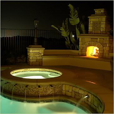 Outside Fireplace pool and hottub!!